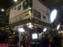 Dedolight's booth at NAB 2015